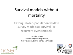Survival models without