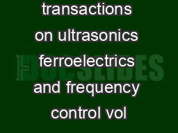 ieee transactions on ultrasonics ferroelectrics and frequency control vol
