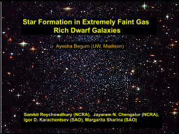 Star Formation in Extremely Faint Gas