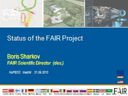 Status of the FAIR Project