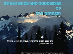 Greek gods and goddesses of