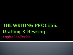 THE WRITING PROCESS: PowerPoint PPT Presentation