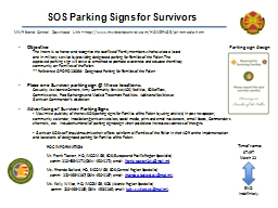 SOS Parking Signs for Survivors PowerPoint PPT Presentation