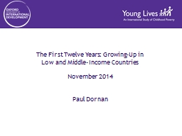 The First Twelve Years: Growing-Up in PowerPoint PPT Presentation