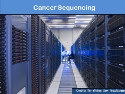 Cancer Sequencing