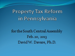 Property Tax Reform PowerPoint PPT Presentation