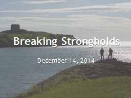 Breaking Strongholds PowerPoint PPT Presentation