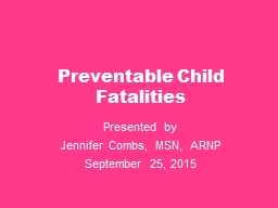 Preventable Child Fatalities