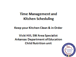 Time Management and