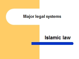 Major legal systems PowerPoint PPT Presentation