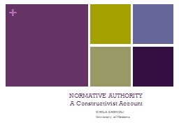 NORMATIVE AUTHORITY PowerPoint PPT Presentation