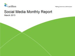 Social Media Monthly Report