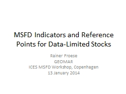 MSFD Indicators and Reference Points for Data-Limited Stock