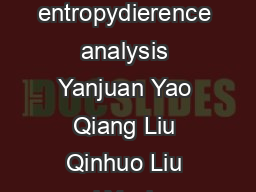 Optimising view angles for the estimation of leaf area index via entropydierence analysis Yanjuan Yao Qiang Liu Qinhuo Liu and Yanhua Gao Institute of Remote Sensing Applications IRSA Chinese Academy