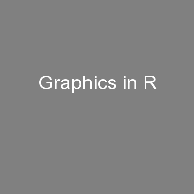 Graphics in R