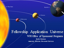 Fellowship Application Universe