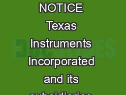 LM  to  Volts DC Converter Literature Number SNOA  IMPORTANT NOTICE Texas Instruments Incorporated and its subsidiaries TI reserve the right to make corrections modifications enhancements improvement