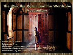 The Lion, the Witch, and the Wardrobe Vocabulary