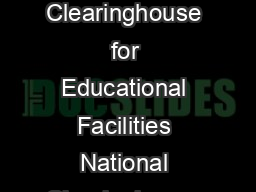Wireless Wide Area Networks for School Districts National Clearinghouse for Educational Facilities National Clearinghouse for Educational Facilities  ermont Avenue N