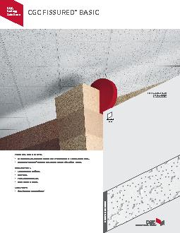CGC FISSURED BASICFEATURES AND BENEFITSEconomical, all-purpose ceiling