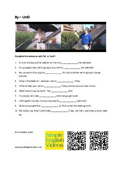 By  Until Complete the sentences with  by  or  until   PDF document - DocSlides