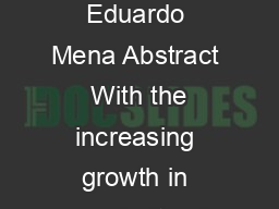 Discovering Web Services Using Semantic Keywords Mauricio Espinoza and Eduardo Mena Abstract  With the increasing growth in popularity of Web services the discovery of relevant services becomes a sig