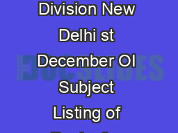 No VIlLlIlloI Government of India Ministry of External Affairs CPV Division New Delhi st December OI Subject Listing of Banks for acceptance of address proof for Passports References have been receiv