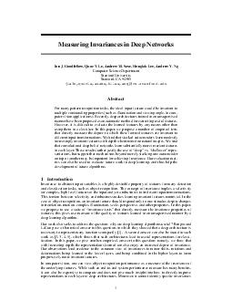 Measuring Invariances in Deep Networks Ian J