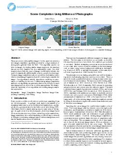 Computer Graphics Proceedings Annual Conference Series  Scene Completion Using M