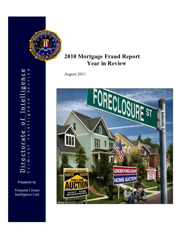 2010 Mortgage Fraud Report                Year in Review  August 2011