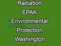 United States Air and Radiation EPAK Environmental Protection Washington DC  July  Agency httpwww