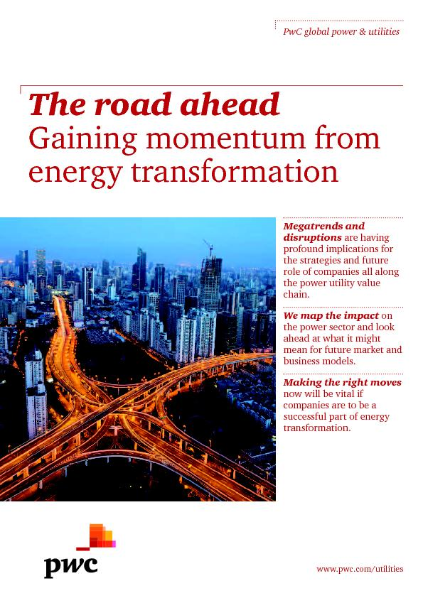 The road ahead Gaining momentum fromgy transformation