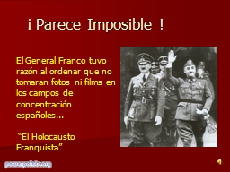 The Holocaust Franco