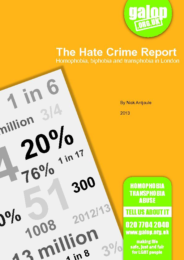 The Hate Crime Report