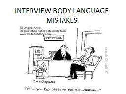 interview body language