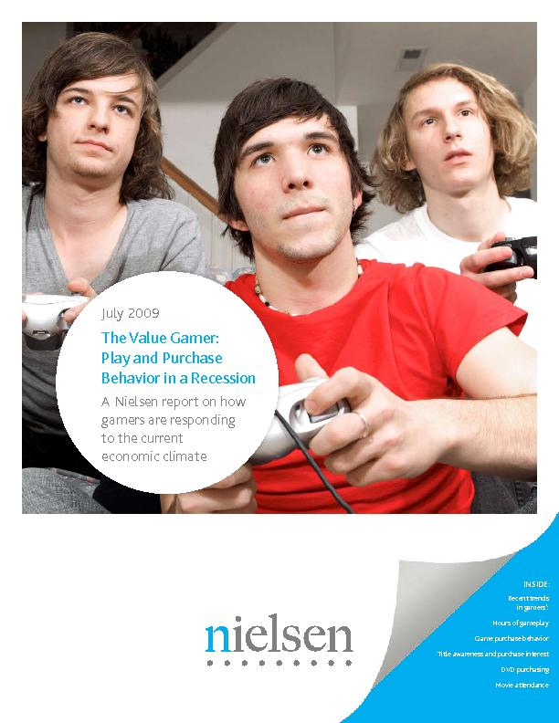 Recent trends in gamers':Hours of gameplayGame purchase behaviorT
