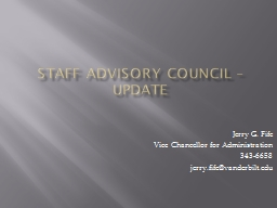 Staff Advisory Council – Update PowerPoint PPT Presentation