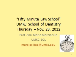 �Fifty Minute Law School�