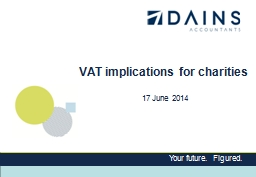 VAT implications for charities