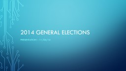 2014 General Elections
