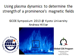 Using plasma dynamics to determine the strength of a promin