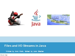 Files and I/O Streams in Java