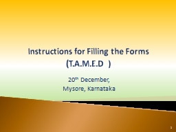 Instructions for Filling the Forms PowerPoint PPT Presentation