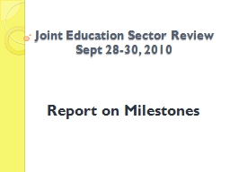 Joint Education Sector Review