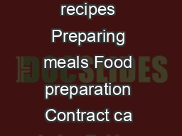AREAS OF EXPERTISE Seasonal dishes ooking methods Implementing recipes Preparing meals Food preparation Contract ca tering Baking skills Food costings Staff supervision Special diets Charles Mathews