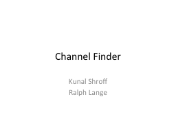 Channel Finder
