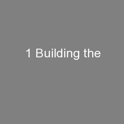 1 Building the
