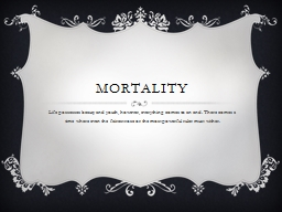 Mortality PowerPoint PPT Presentation