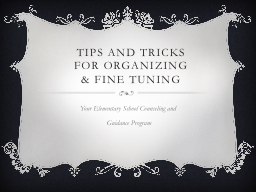 Tips and Tricks PowerPoint PPT Presentation