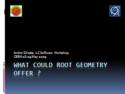 What could root geometry offer ? PowerPoint PPT Presentation